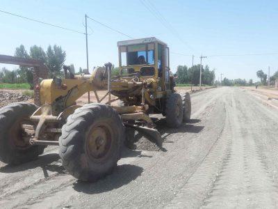پروژه شن ریزی و تسطیح معابر شهر دیزج دیز