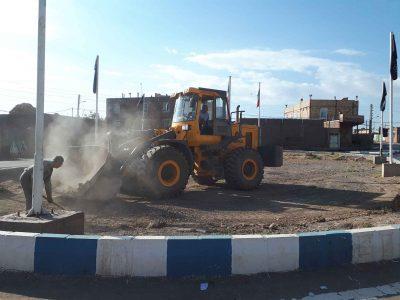 آماده سازی میدان عاشورا