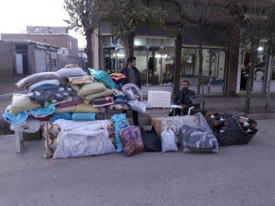 جمع آوری کمک های مردمی شهر دیزج دیز برای زلزله زدگان غرب کشور